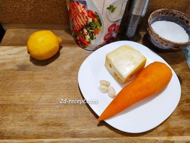 Ингредиенты для салата с сыром