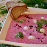 Свекольный суп-пюре с имбирем и чесноком - фото к пошаговому рецепту