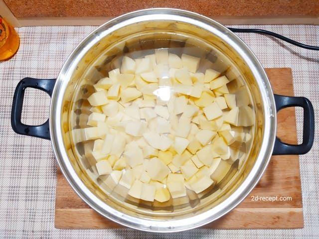 Картошка для супа с фрикадельками
