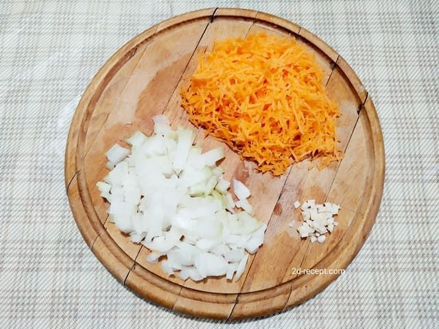 Лук и морковь измельченные