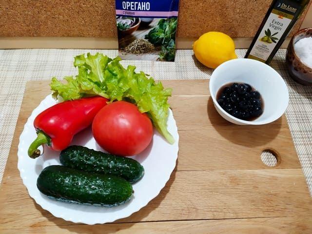 Овощи для греческого салата