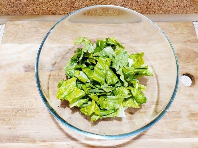 Салат ромен для цезаря