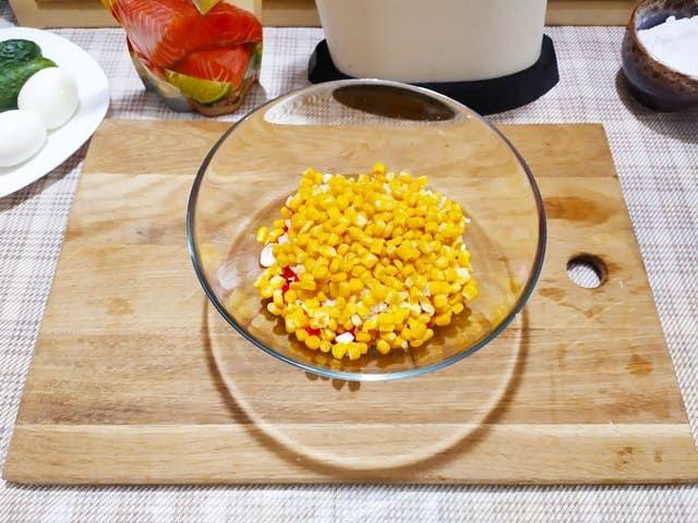 Кукуруза для крабового салата