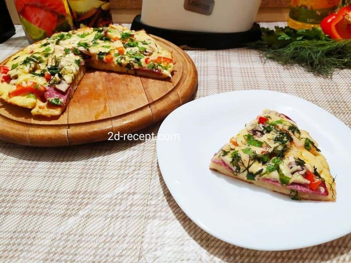 Пицца на сковороде быстро