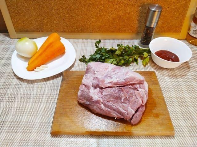 Ингредиенты для тушеной картошки