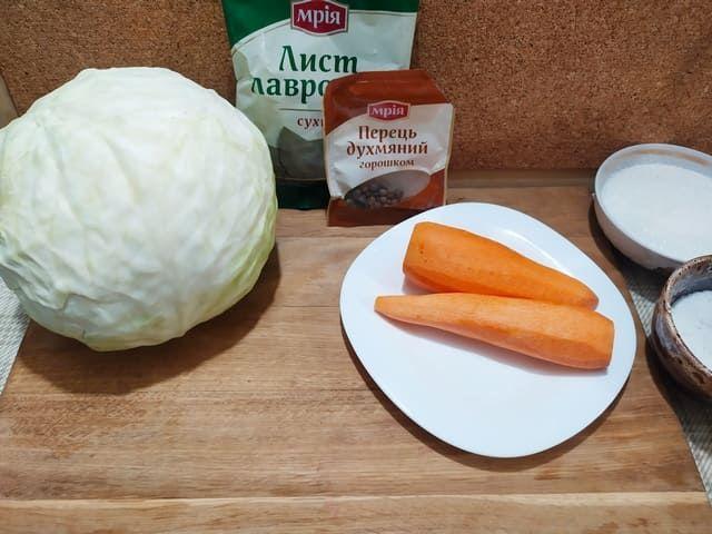 Ингредиенты для квашеной капусты