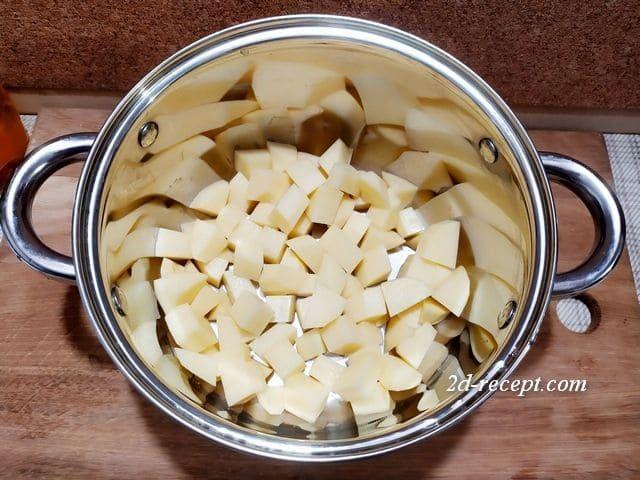 Картошка для сырного супа