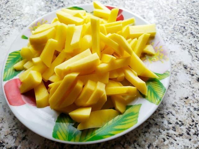 Картошка нарезанная