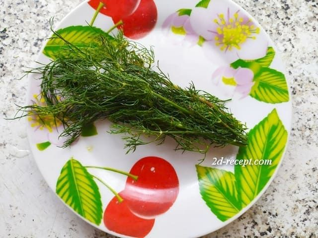 Укроп для салата из огурцов