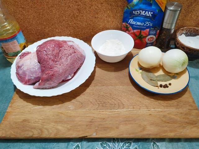 Ингредиенты для гуляша из говядины