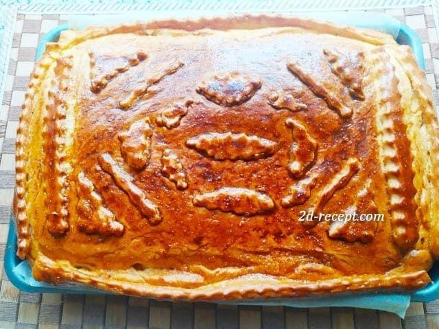 Дрожжевой пирог с капустой