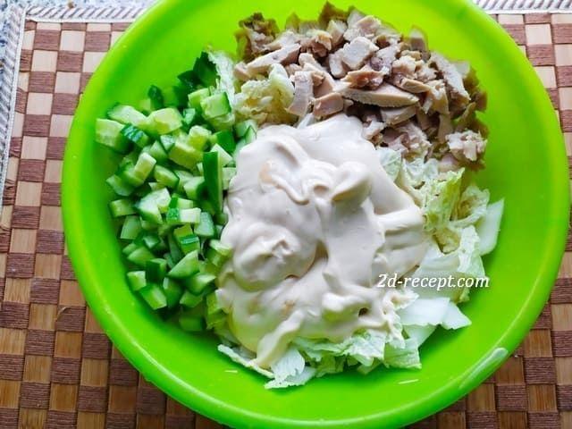 Готовим салат с капустой