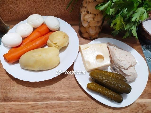 Ингредиенты для грибной поляны