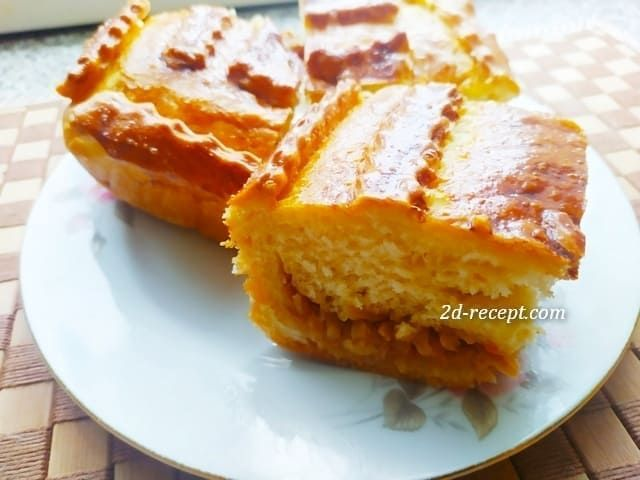 Пирог с капустой дрожжевой
