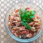 Салат из баклажанов с помидорами и перцем - фото к пошаговому рецепту