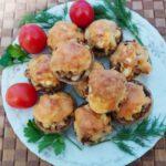 Фаршированные шампиньоны с курицей - фото к пошаговому рецепту