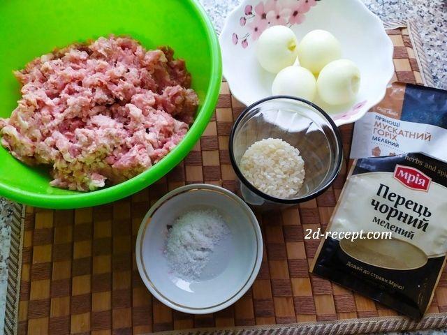 Ингредиенты для тефтелей в духовке