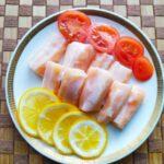 Как засолить брюшки лосося - фото к пошаговому рецепту