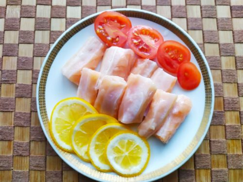 Соленые брюшки лосося