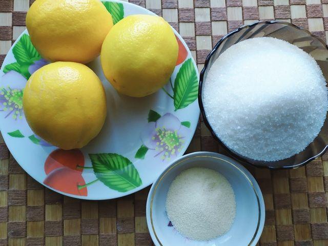 Лимоны и сахар для начинки